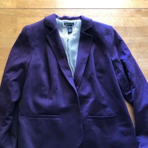 Purple Lane Bryant Blazer